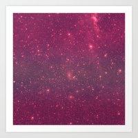Pink Space Art Print