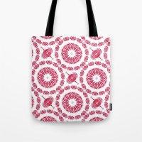 Ruby Mandala Tile Tote Bag