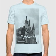 Soldier And Cathedral Mens Fitted Tee Light Blue SMALL