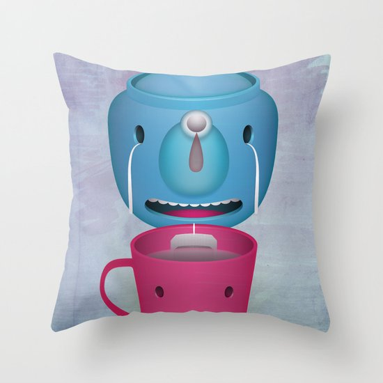 Tea Potty Throw Pillow