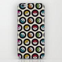 Dancing vinyls iPhone & iPod Skin