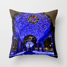 Merry Christmas from Boston, MA Throw Pillow