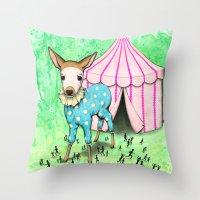 Escape the Big Top Throw Pillow