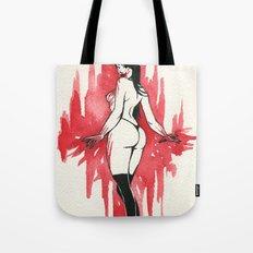 vampire pin-up Tote Bag