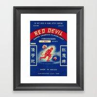 Red Devil Framed Art Print
