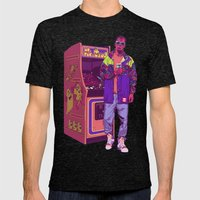 Monster Arcade Mens Fitted Tee Tri-Black SMALL
