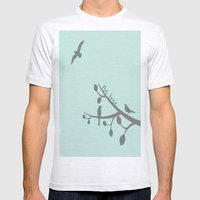 Free As A Bird Mens Fitted Tee Ash Grey SMALL