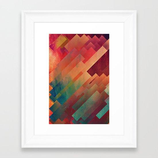 slyb ynvyrtz Framed Art Print