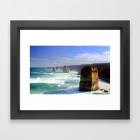 Limestone Stacks Framed Art Print