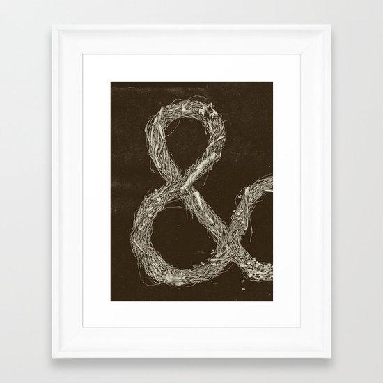 &,&,&: Part 1 Framed Art Print