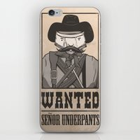 WANTED: SENOR UNDERPANTS iPhone & iPod Skin