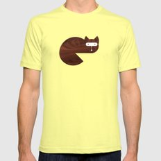 Minanimals: Fox Mens Fitted Tee Lemon SMALL