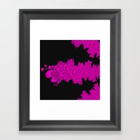 pink and black fractal Framed Art Print