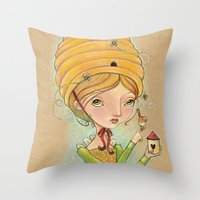 The Only Bee in My Bonnet Throw Pillow