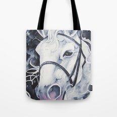 Pale White Horse Tote Bag