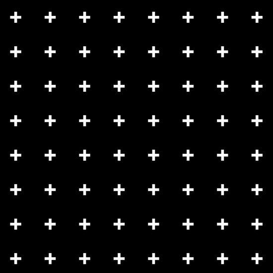 White Plus on Black /// www.pencilmeinstationery.com Art Print