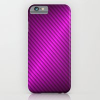 Purple Oblique Stripes iPhone 6 Slim Case