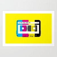 CMYK Mix tape called life Art Print