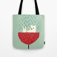 umbrella bath time! Tote Bag