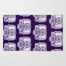 I Still Shoot Film Holga Logo - Reversed Deep Purple Rug
