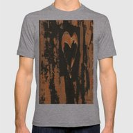 Liquid Copper Heart  Mens Fitted Tee Athletic Grey SMALL