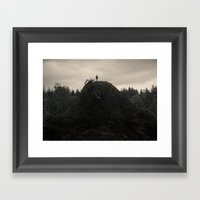 Up In the Woods, Down in My Mind Framed Art Print