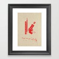 K Is For Kiss Kiss Bang … Framed Art Print