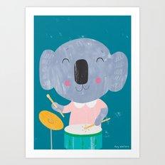 Koala Drummer Art Print