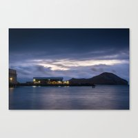 Sea Life Pier Sunrise Canvas Print