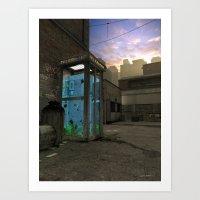 Phone Booth Art Print