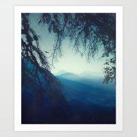 blue morning - vertical tapestry Art Print