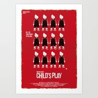 CHILD'S PLAY - RED COLLE… Art Print