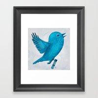 The Original Twitter - Painting Framed Art Print