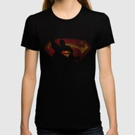 The Man Of Sky Womens Fitted Tee Black X-LARGE