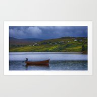 Art Print featuring  Carbost Loch Harport by Chris Thaxter