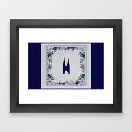 Framed Art Print featuring Delft Blue Tile Eastern … by Kultjers