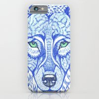 iPhone & iPod Case featuring ice wolf by ola liola