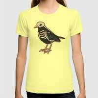 Dead Bird Womens Fitted Tee Lemon SMALL