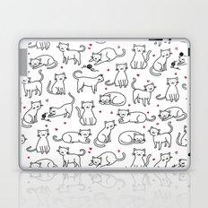 Kitties with Hearts Laptop & iPad Skin
