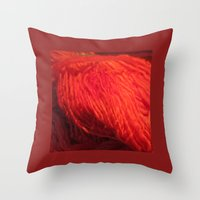 Throw Pillow featuring Yarn on Fire by Rogue Crafter