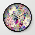 summery floral Wall Clock