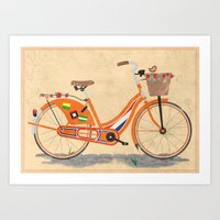 Love Holland, Love Bike Art Print
