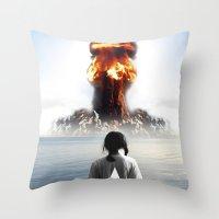 Nuke My Home Throw Pillow