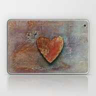 Laptop & iPad Skin featuring Distressed  Heart by LebensART Photograph…