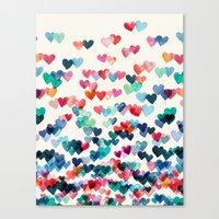 Canvas Print featuring Heart Connections - watercolor painting by micklyn
