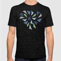 Abstraction #9 Mens Fitted Tee Tri-Black SMALL