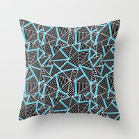Ab 2 Repeat Blue Throw Pillow