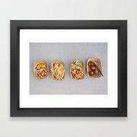 Food Organized Neatly Framed Art Print