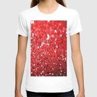 glitter T-shirts featuring Glitter Red by Brian Raggatt
