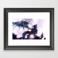Coldfire Dragon Framed Art Print